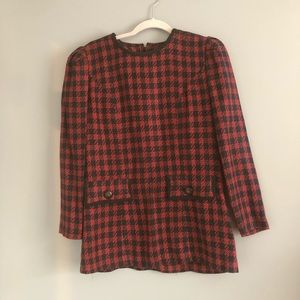 Vintage Separate Issue Buffalo Plaid Blouse Size 8